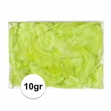 10 gram groene versiering dons veren