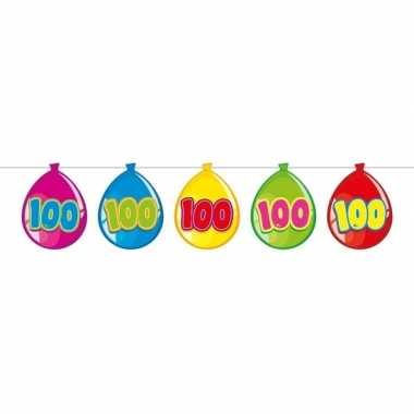100 jaar leeftijd versiering ballon slinger 10 meter