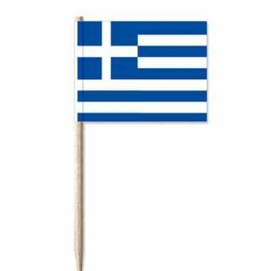 100x griekse versiering vlaggen prikkertjes