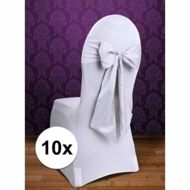 10x bruiloft stoel versiering witte strik