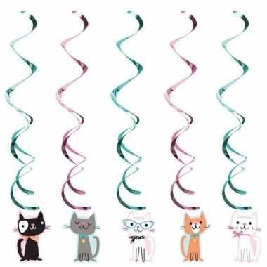 10x katten/poezen thema rotorspiralen hangversiering