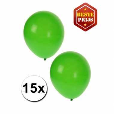 15 groene versiering ballonnen