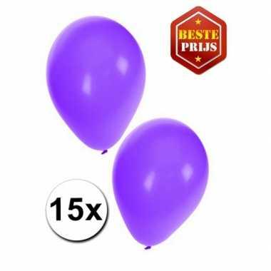 15 paarse versiering ballonnen