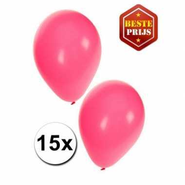 15 roze versiering ballonnen