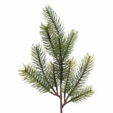 1x groene kersttakken dennentakjes 36 cm kerstversiering