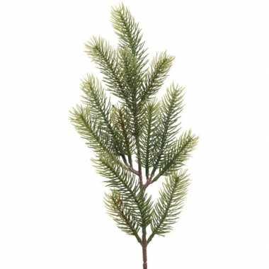 1x groene kersttakken dennentakjes 52 cm kerstversiering