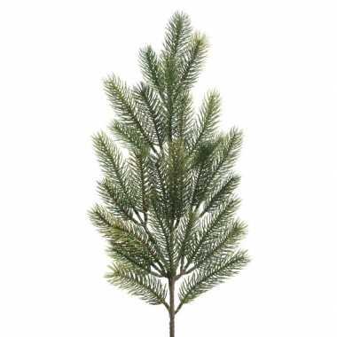 1x groene kersttakken dennentakjes 66 cm kerstversiering