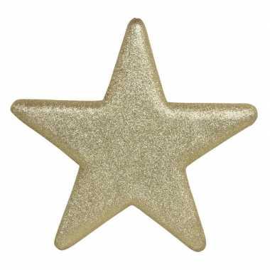 1x grote gouden glitter sterren kerstversiering/kerstversiering 40 cm