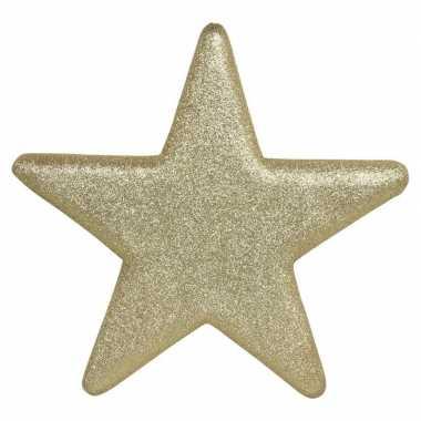 1x grote gouden glitter sterren kerstversiering/kerstversiering 50 cm