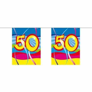 1x mini slinger versiering 50 jaar