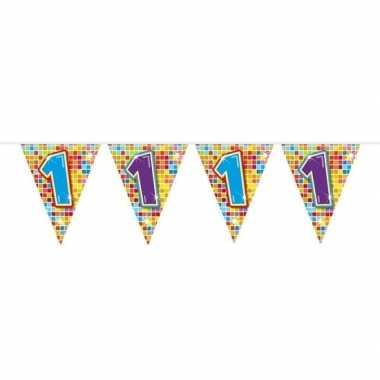 1x mini vlaggenlijn / slinger verjaardag versiering 1 jaar