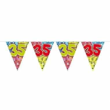 1x mini vlaggenlijn / slinger verjaardag versiering 35 jaar