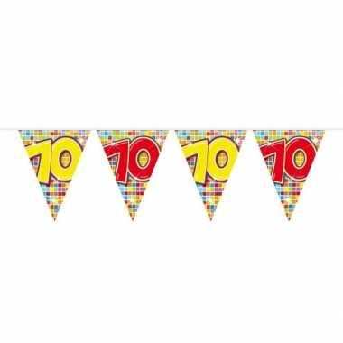 1x mini vlaggenlijn / slinger verjaardag versiering 70 jaar