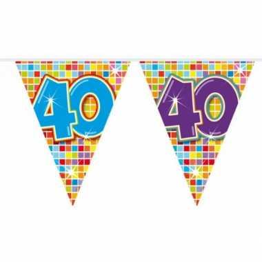 1x mini vlaggenlijn versiering 40 jaar