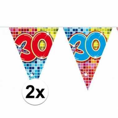 2 Mini Vlaggenlijn Slinger Verjaardag Versiering 30 Jaar