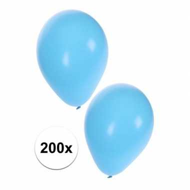 200 lichtblauwe versiering ballonnem