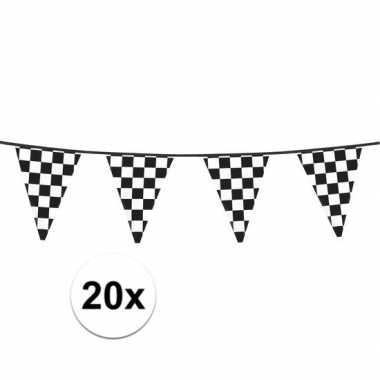 20x finish feestversiering vlaggenlijn 6 meter