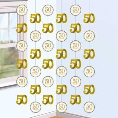 2x hangversiering slingers jubileum 50 jaar