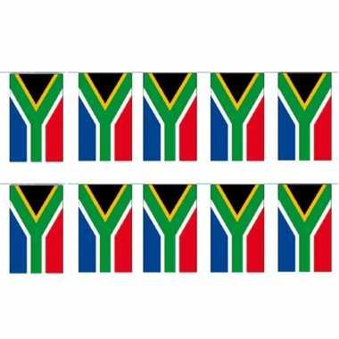 2x papieren slinger zuid afrika 4 meter landen versiering