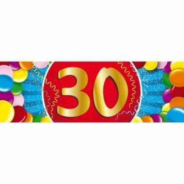 30 jaar leeftijd sticker 19 x 6 cm verjaardag versiering