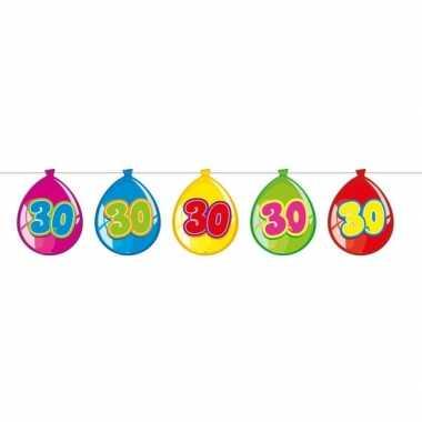 30 jaar leeftijd versiering ballon slinger 10 meter