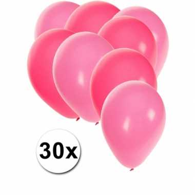 30x stuks party ballonnen 27 cm roze / lichtroze versiering