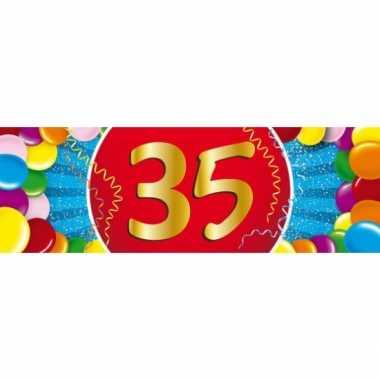 35 jaar leeftijd sticker 19 x 6 cm verjaardag versiering