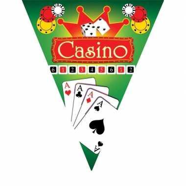 3x feestversiering vlaggenlijnen casino