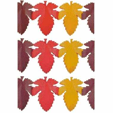3x herfstbladen versiering slinger