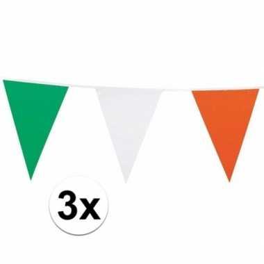 3x ierland versiering vlaggenlijn 7 m