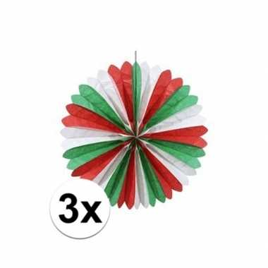 3x italiaanse waaiers versiering 60 cm