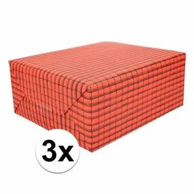 3x rol dakpan versiering papier 50 x 70 cm
