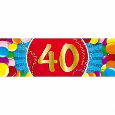 40 jaar leeftijd sticker 19 x 6 cm verjaardag versiering