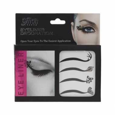 4x eyeliner versiering stickers