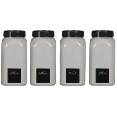 4x hobby/versieringzand creme wit 650 ml