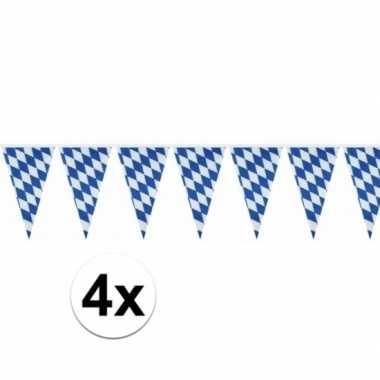 4x oktoberfest versiering vlaggenlijn 10 meter