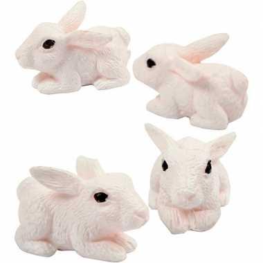 4x versiering konijntjes/haasjes 1 cm