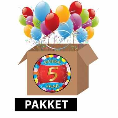 5 jarige feestversiering pakket