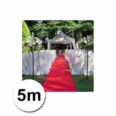 5 meter lange rode versiering loper 1 meter breed