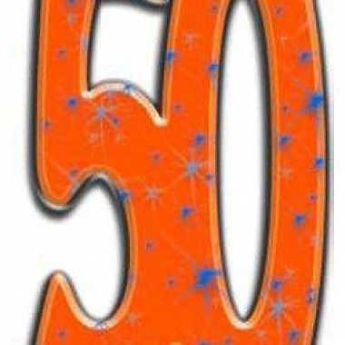 50 jaar versiering bord