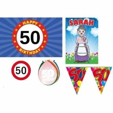 50 jaar versiering feestpakket sarah