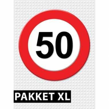 50 jarige verkeerbord versiering pakket xl