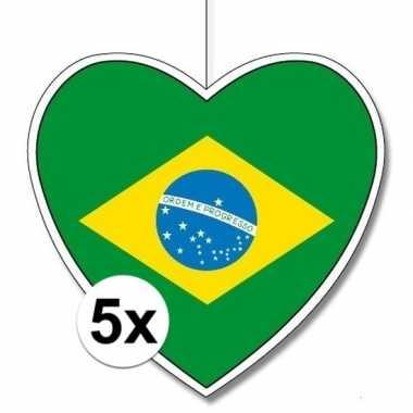 5x brazili? hangversiering harten 28 cm