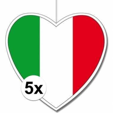 5x italie hangversiering harten 28 cm