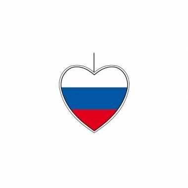 5x rusland hangversiering harten 14 cm
