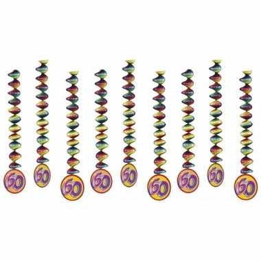 60 jaar versiering spiralen 9x