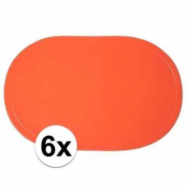 6x ek versiering oranje placemats
