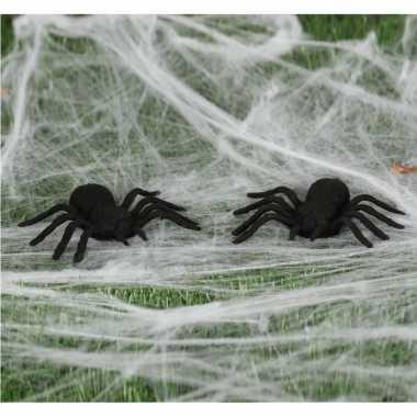 6x nep spinnen 10 cm halloween versiering