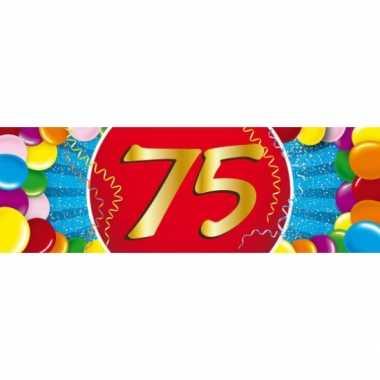 75 jaar leeftijd sticker 19 x 6 cm verjaardag versiering