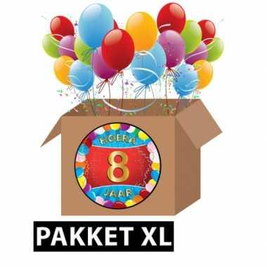 8 jarige feestversiering pakket xl